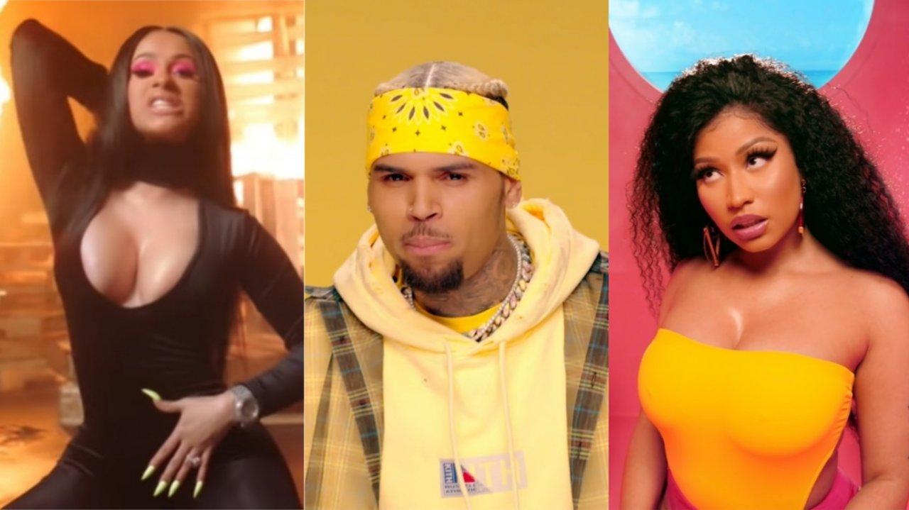 Rainhas do Rap! Cardi B e Nicki Minaj arrasam em novos clipes de DJ Khaled e Chris Brown; assista!>