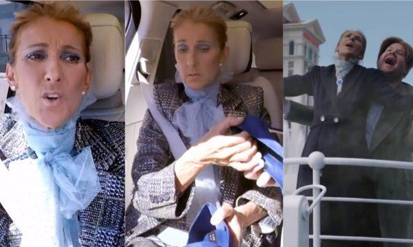 """""""Carpool Karaoke"""": Céline Dion canta seus hits, distribui sapatos e reproduz cena de """"Titanic"""" com James Corden em Las Vegas; assista"""
