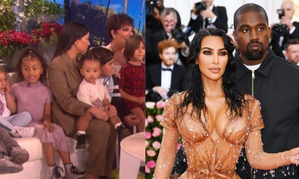 Na Ellen, Kourtney revela que barriga de aluguel de Kim está em trabalho de parto e surpreende Kris Jenner com seis de seus netos; assista