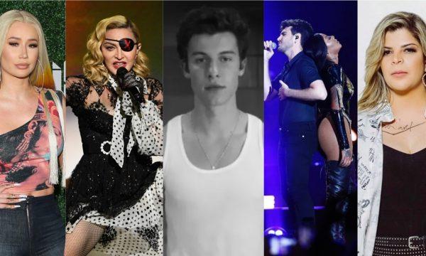 """Novo single de Madonna; clipe inédito de Shawn Mendes; rap forte de Iggy Azalea; baladinha de Ludmilla com Jão e sofrência de Paula Mattos com Lucas Lucco são destaques nos """"Lançamentos de Sexta"""""""