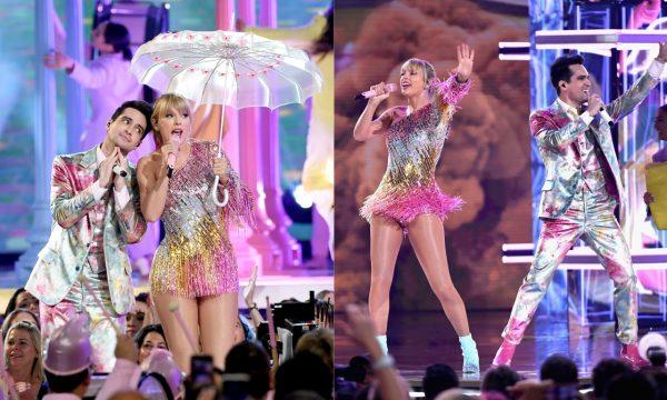"""BBMA 2019: Taylor Swift e Brandon Urie abrem premiação com performance linda e super colorida de """"ME!"""""""