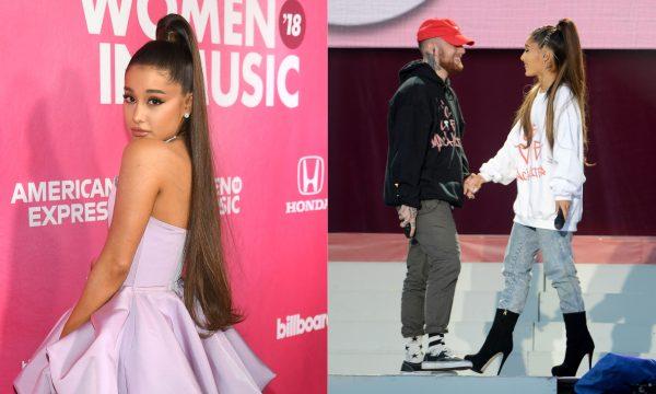 """Vídeos: Ariana Grande cai no choro ao cantar """"Thank u, next"""" e música sobre Mac Miller em show na cidade do ex; assista"""
