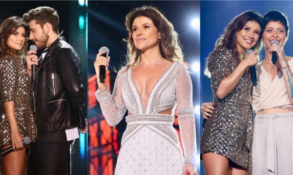 """Em gravação de DVD, Paula Fernandes canta """"Juntos"""" sem Luan Santana e recebe convidados; vem ver!"""