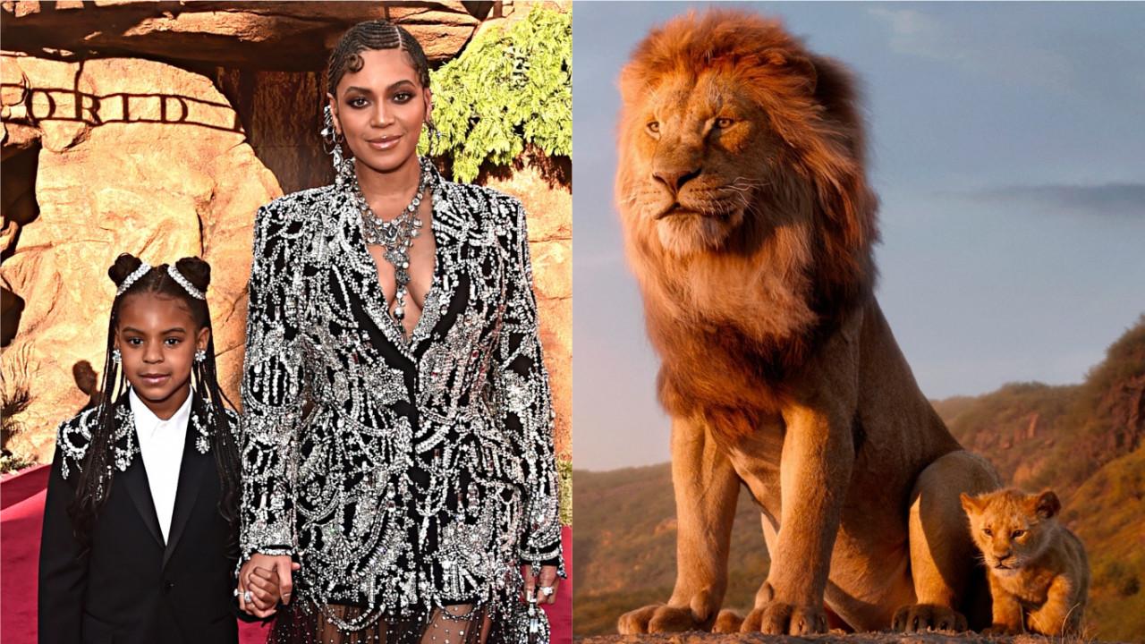 """Vídeo: Beyoncé é vista gravando suposto videoclipe para música de """"O Rei Leão"""" ao lado de Blue Ivy; vem ver!"""