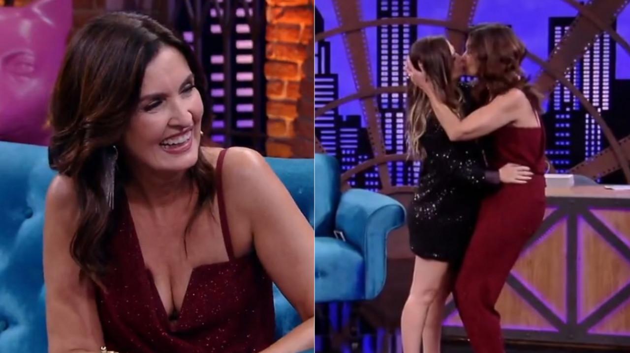 """Lady Night: Fátima Bernardes responde questões ousadas sobre sexo, fala do primeiro beijo com Túlio, e sobre relação com Bonner no """"JN"""""""