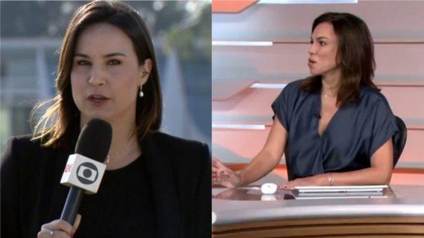 """Que susto! Repórter do """"Bom Dia Brasil"""" desaparece ao vivo e preocupa apresentadores e público; veja!"""