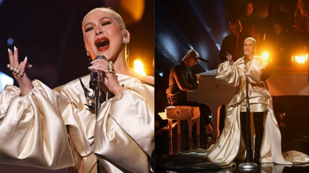 "AMA 2019: De arrepiar! Christina Aguilera emociona com performance LINDA de ""Fall On Me"", nova parceria com A Great Big World; assista!"