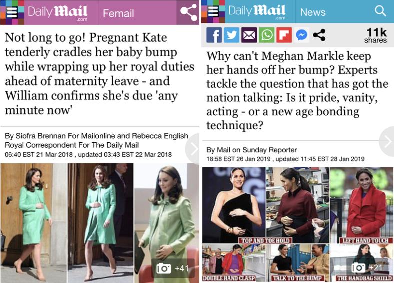 Matérias do Daily Mail (Foto: Reprodução)