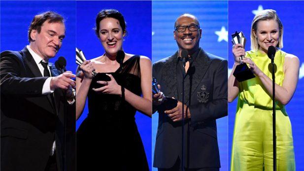 """Critics' Choice Awards 2020: """"Era Uma Vez Em... Hollywood"""" consagra favoritismo, """"Fleabag"""" se destaca e Eddie Murphy e Kristen Bell recebem homenagens; confira!"""