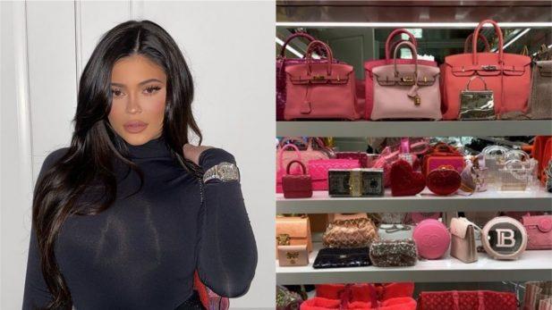 Kylie Jenner choca ao mostrar seu closet de bolsas, com itens que podem chegar a R$ 1,6 milhão! Veja as fotos e detalhes