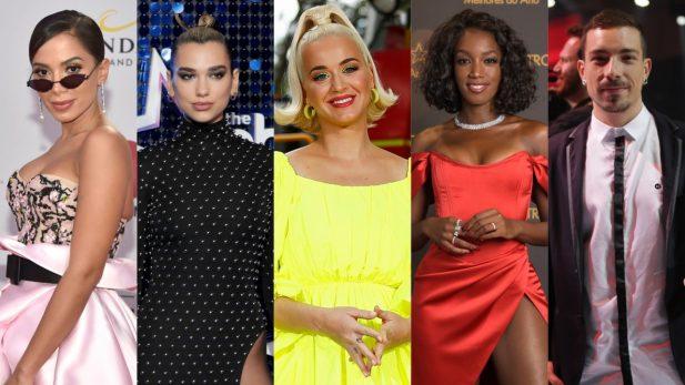 """Novo hino de Katy Perry; Aposta gringa de Anitta com Arcángel e De La Ghetto; Parceria linda de Iza e Di Ferrero, e clipe de hit de Dua Lipa são destaques nos """"Lançamentos de Sexta""""; confira!"""