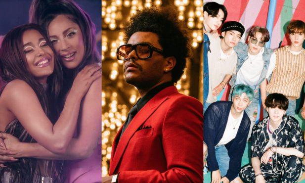 """""""VMA 2020"""": Resumão! Lady Gaga é a grande vencedora da noite; Ariana Grande, BTS e The Weeknd também se destacam - Vem ver tudo!"""