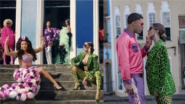 """SAIU! Anitta, Cardi B e Myke Towers desfilam e arrasam pelos pontos turísticos de Salvador no clipe IMPECÁVEL de """"Me Gusta""""; Assista"""