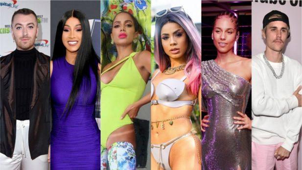 """Hino de Anitta e Cardi B, singles poderosos de Bieber e Sam Smith, e álbuns de Alicia Keys, Lexa e Ava Max são destaques nos """"Lançamentos de Sexta"""""""