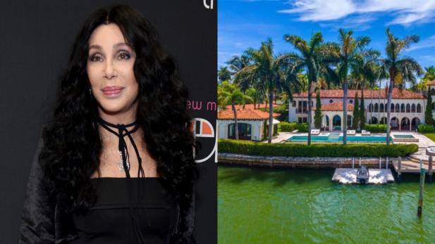 Uau! Antiga mansão de Cher em Miami é colocada à venda por cerca de R$ 115,2 milhões; Residência tem cais próprio, closet personalizado e vista INCRÍVEL — confira as fotos!
