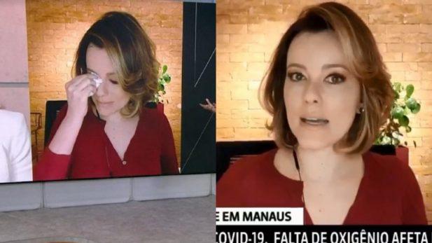 """Natuza Nery chora ao vivo na GloboNews ao comentar situação de Manaus, e faz discurso ARRASADOR contra governo: """"Incompetência sem tamanho"""" — assista"""