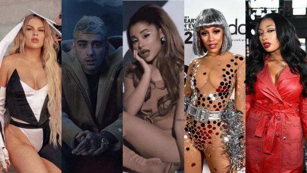 Lançamentos de Sexta: Remix de Ariana Grande com Doja Cat e Megan Thee Stallion; novo hinário de Zayn, e feat de As Baías e Luísa Sonza são destaques — confira!