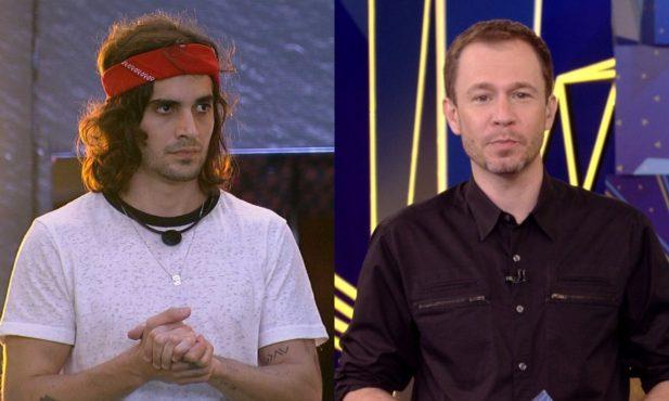"""BBB21: Em conversa com Caio, Fiuk critica falas de apresentador do reality: """"Diz umas besteiras""""; assista"""