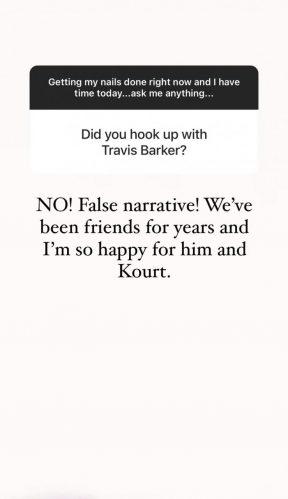 Kim Kardashian desmente rumores que já teria se relacionado com Travis Barker (Reprodução/Instagram)