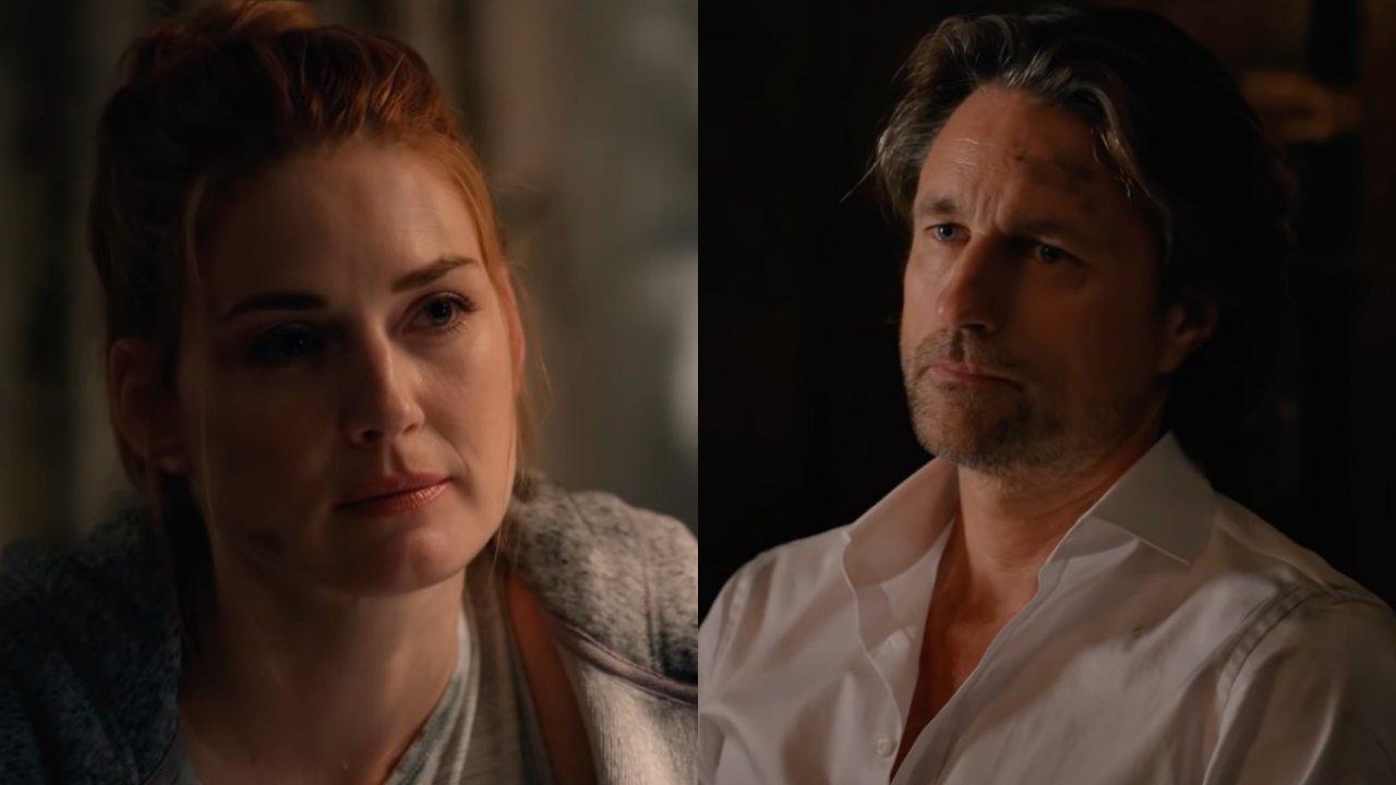 Virgin River: Mel consola Jack em cena da terceira temporada. (Foto: Reprodução; YouTube)