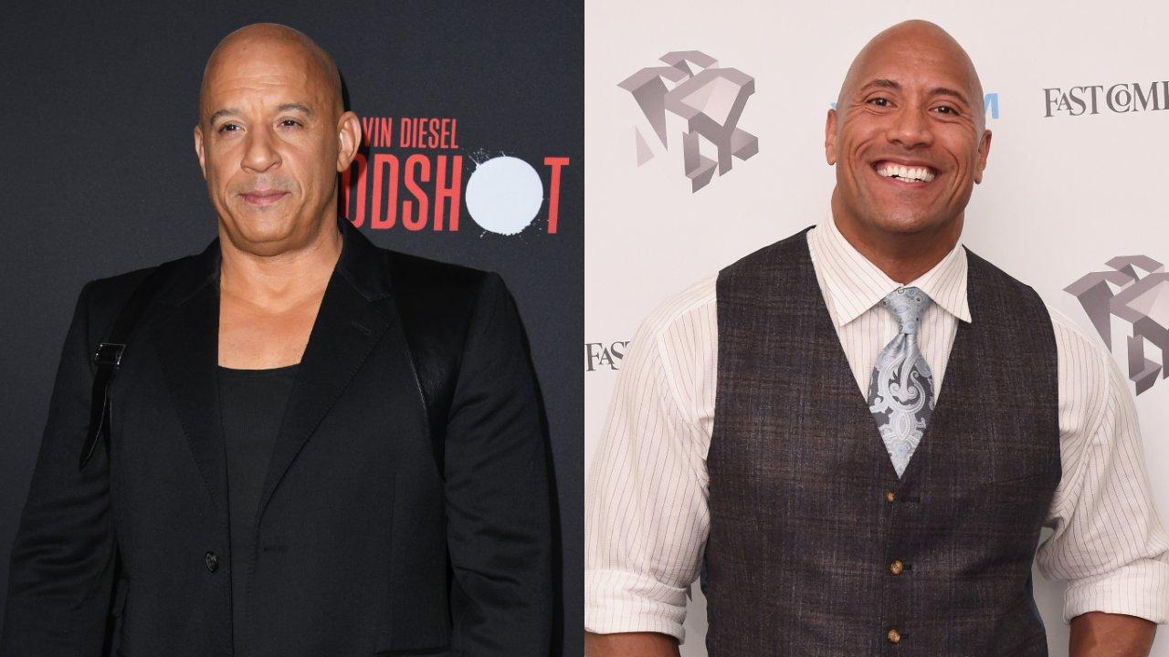 """Vin Diesel explica briga com The Rock nos bastidores: """"Amor bruto"""". (Getty)"""