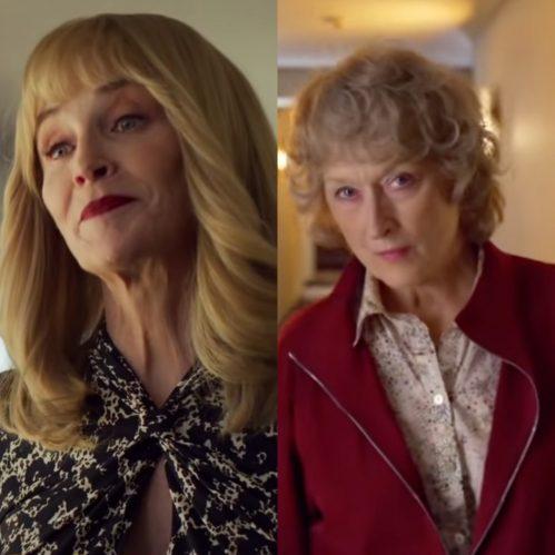 """As atrizes estão juntas no filme """"The Laundromat"""", de 2019. (Foto: Reprodução/YouTube)"""