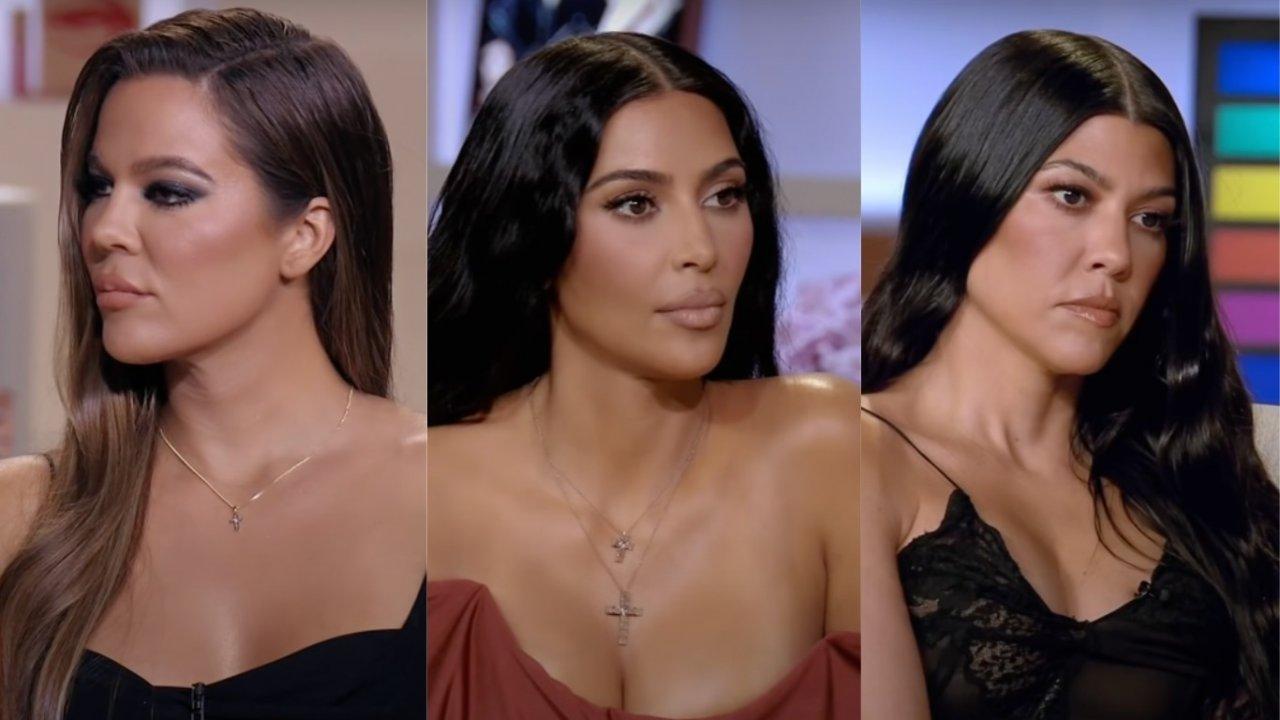 Khloé Kardashian reclama das irmãs esconderem coisas das câmeras e diz que carregou reality nas costas. (Foto: reprodução;YouTube)