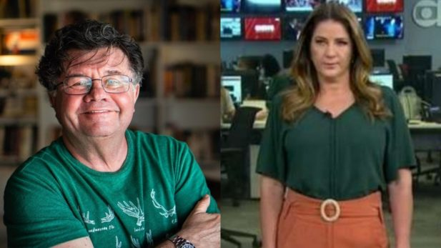 """Marcelo Madureira, do """"Casseta e Planeta"""", critica a jornalista Christiane Pelajo após vídeo vazado: """"Gorda e Antipática"""" (Reprodução Instagram/GloboNews)"""