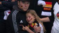 Vaquinha virtual para menina alemã que chorou na derrota para a Inglaterra causa polêmica e responsável é acusado de roubo. (Reprodução BBC)