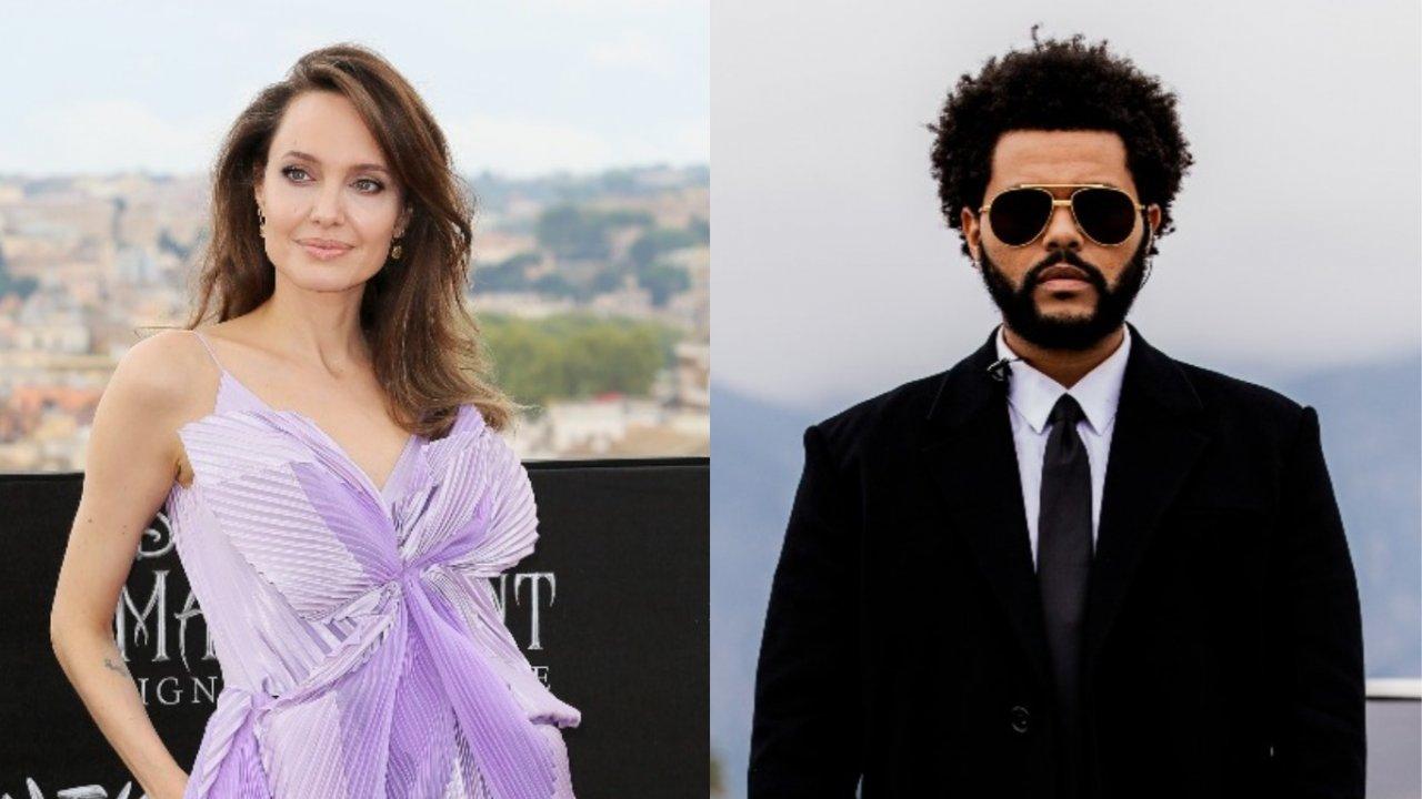 Angelina Jolie e The Weeknd são vistos jantando juntos em Los Angeles. (Getty)