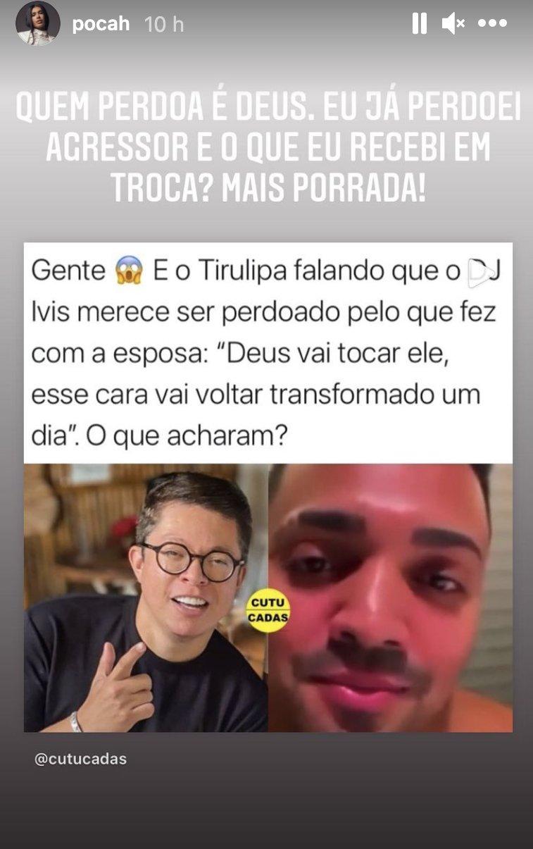 Pocah rebate declaração de Tirullipa. (Foto: Reprodução Instagram)