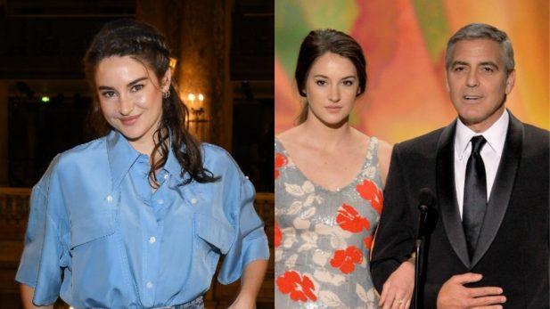 Shailene Woodley relembra episódio em que George Clooney enviou um motorista para buscar ela e um amigo em hostel. (Foto: Getty)