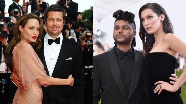 Brad Pitt e Bella Hadid foram os últimos relacionamento oficias de Angelina e Abel. (Foto: Getty)