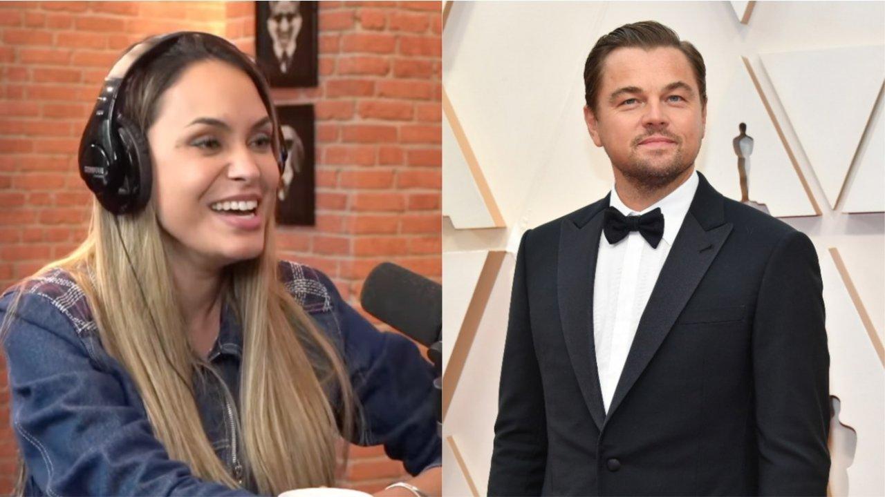Sarah Andrade revela situação inusitada em que xingou Leonardo DiCaprio. (Reprodução YouTube/Getty)