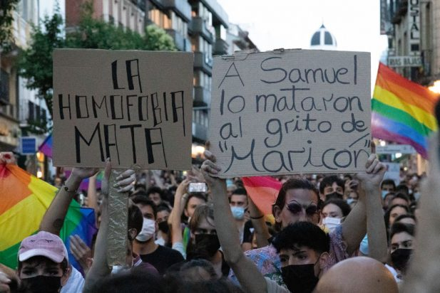 Protest In Madrid Against Homophobia