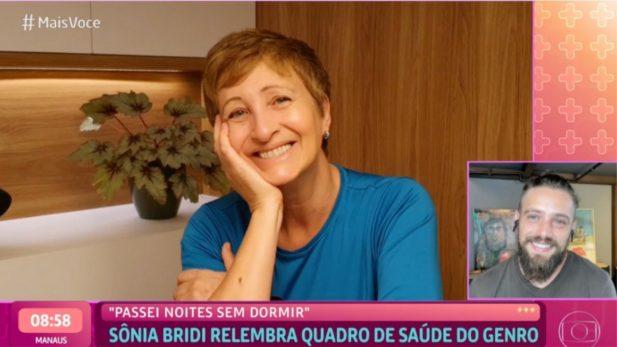 Rafael Cardoso se emocionou com depoimento da sogra, Sônia Bridi. (Foto: Reprodução/TV Globo)
