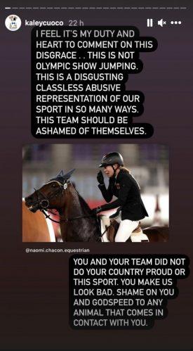 Kaley Cuoco lamentou a cena que aconteceu nos Jogos Olímpicos. (Foto: Reprodução/Instagram)