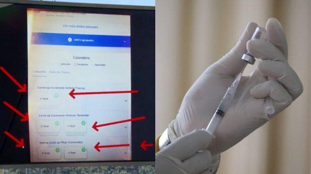 Morador do Rio de Janeiro é suspeito de tomar 5 doses da vacina contra a Covid-19. (Reprodução; RJ1/Mufid Majnun; Unsplash)