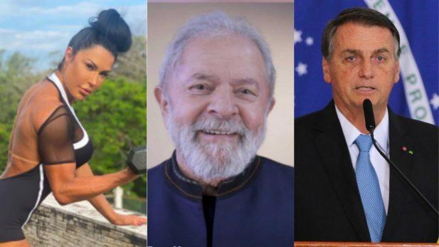 """Gracyanne Barbosa opina sobre """"pernas torneadas"""" de Lula, aponta detalhe curioso e lança desafio a Bolsonaro: """"Já peguei minha pipoca"""". (Reprodução; Instagram/ Fabio Rodrigues-Pozzebom; Agência Brasil)"""