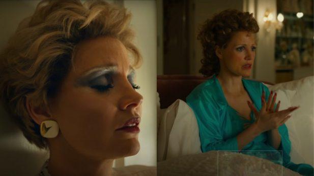"""Jessica Chastain é protagonista do filme """"Os Olhos de Tammy Faye"""". (Foto: Reprodução/YouTube)"""