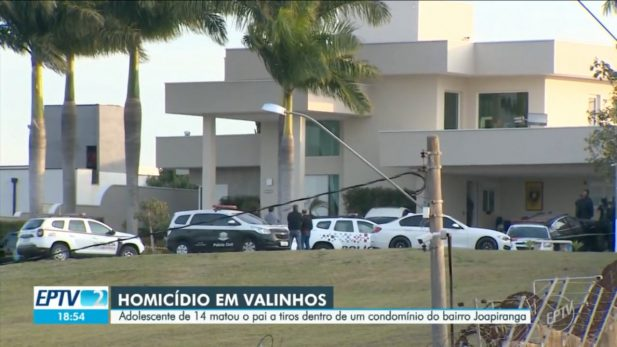 Residência no bairro Joapiranga foi cercada pelos policiais. (Foto: Reprodução/EPTV)