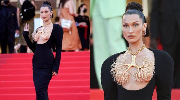 Bella Hadid arrasou no look no Festiva de Cannes deste ano. (Foto: Getty)