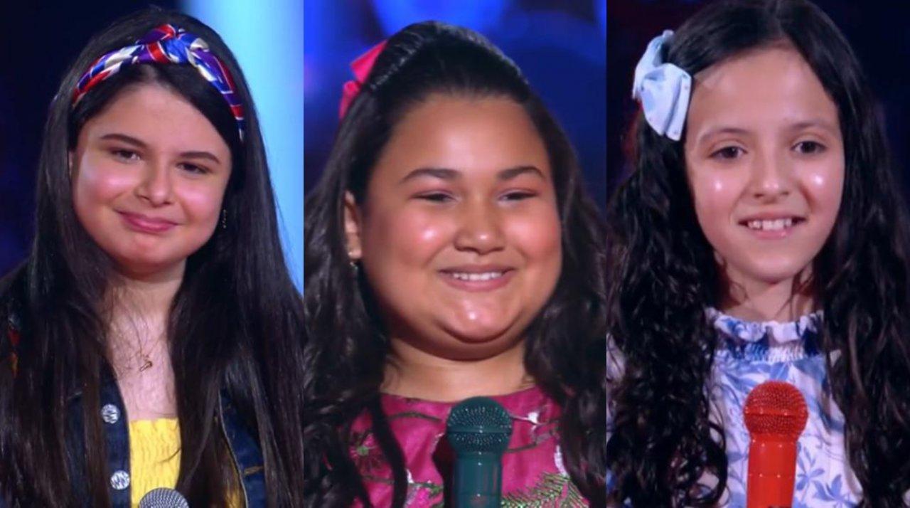 The Voice Kids: Crianças surpreendem técnicos ao pularem de alegria após eliminação. (Reprodução/Globo)