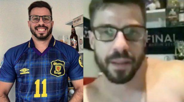 Comentarista da ESPN Brasil é pego desprevenido em casa após falha técnica. (Reprodução Instagram/ESPN)