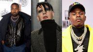 Porta-voz confirma participação de Marilyn Manson no novo álbum de Kanye West e rapper sofre críticas. (Getty)