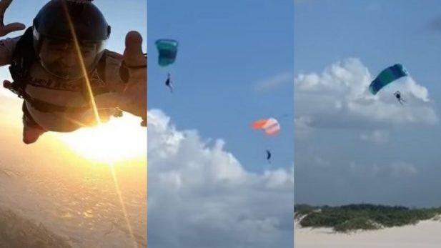 Paraquedas Acidente