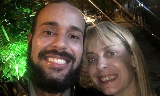 Pedro Paulo Gonçalves e Christiane Louise eram amigos próximos. (Foto: Reprodução)
