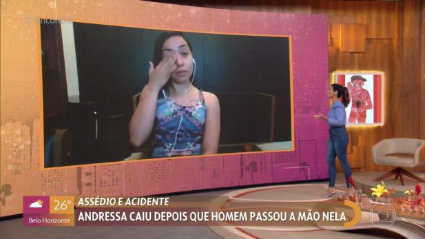 """A estudante esteve no """"Encontro"""" desta terça. (Foto: Reprodução/Globo)"""