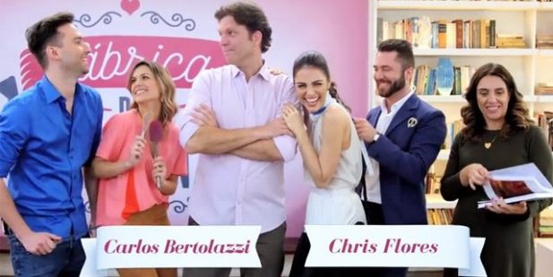 """""""Fábrica de Casamentos"""" era comandado por Chris Flores e Carlos Bertolazzi. (Foto: Reprodução/YouTube)"""