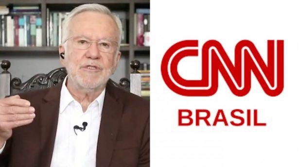 Alexandre Garcia demitido. (Reprodução; CNN/Divulgação)